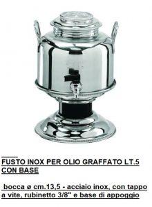 FUSTO INOX 5 LT CON BASE